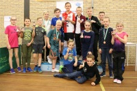 Kindertafeltennisfeest 2019 bij Smash in Monster - alle winnaars