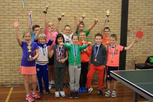 Kinder tafeltennisfeest 2016 Smash Monster