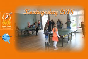 Tafeltennisvereniging Smash bij Koningsdag 2018 in Monster