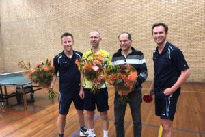 Reinier, Stefan, Edwin en Johan kampioen in eerste klasse Poule C